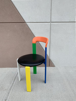 "Vintage Bruno Rey ""Rey"" Chair in Multicolor"