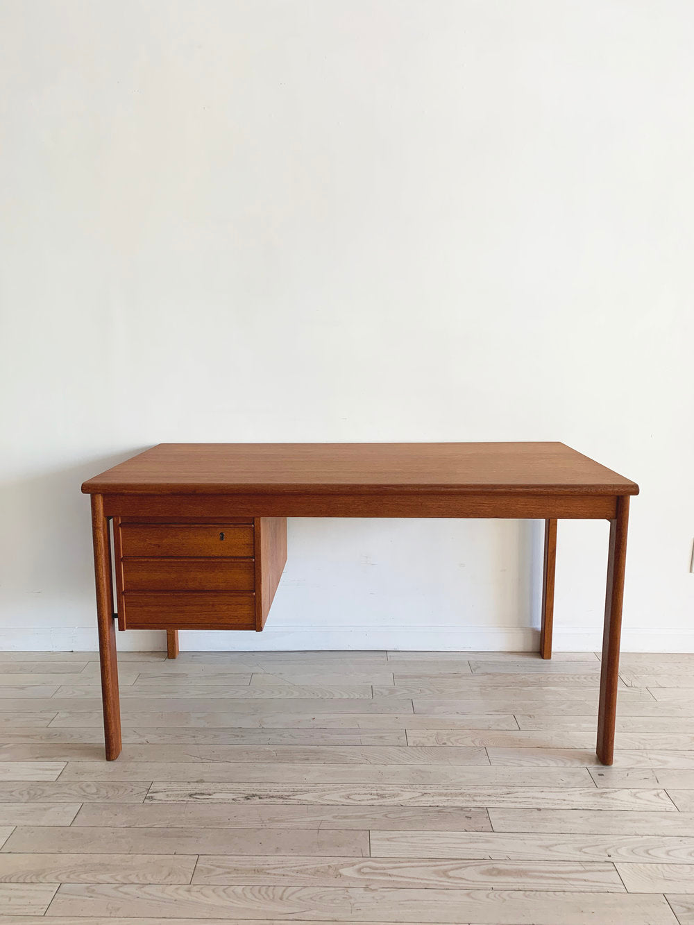 Danish Teak Mid Century Sliding Top Desk by Peter Loving Nielson, 1978