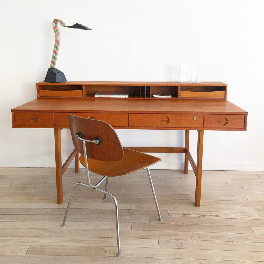 Danish Mid Century Teak Flip Top Desk by Peter Lovig Nielsen