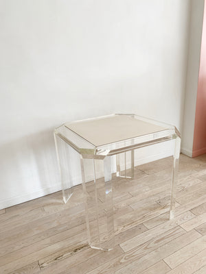 1970s Lucite Les-Prismatiques Square Dining Table