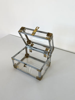 1960s Lucite Jewelry Box