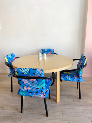 Vintage Ettore Sottsass for Knoll Mandarin Chair in Matisse Print- Single