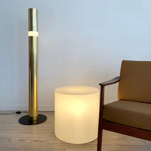 1960s Paul Mayen Illuminating Drum Side Table Lamp