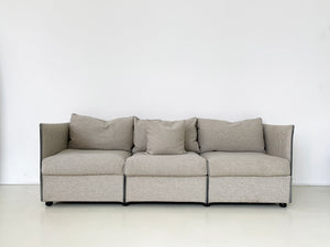 "1970s Striped Mario Bellini For Cassin ""Landeau"" Modular Sofa"