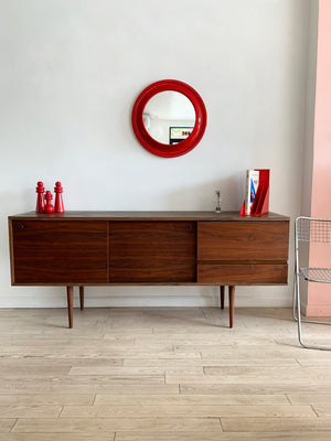 1950s Mel Smilow Refinished walnut Credenza