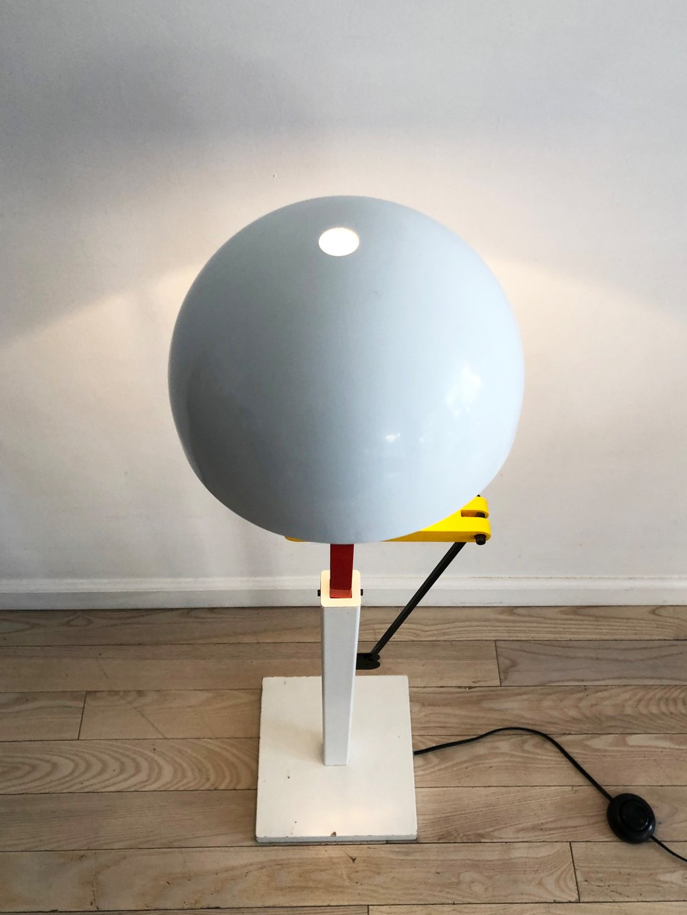 1980s Japanese Memphis Adjustable Floor Lamp by Ikeda Seisakusho, Co.