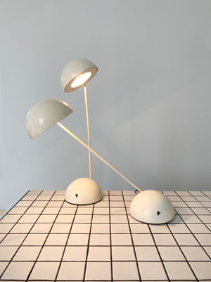 "Cream 1981 Tronconi Illuminazione ""Minikini / Bikini"" Table Lamp by Barbieri & Marianelli"