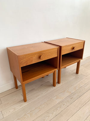 1970s Pair of Teak Nightstands, Denmark