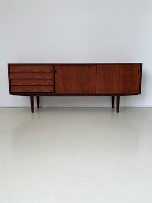 1960s Danish Teak Stacked Drawer Credenza
