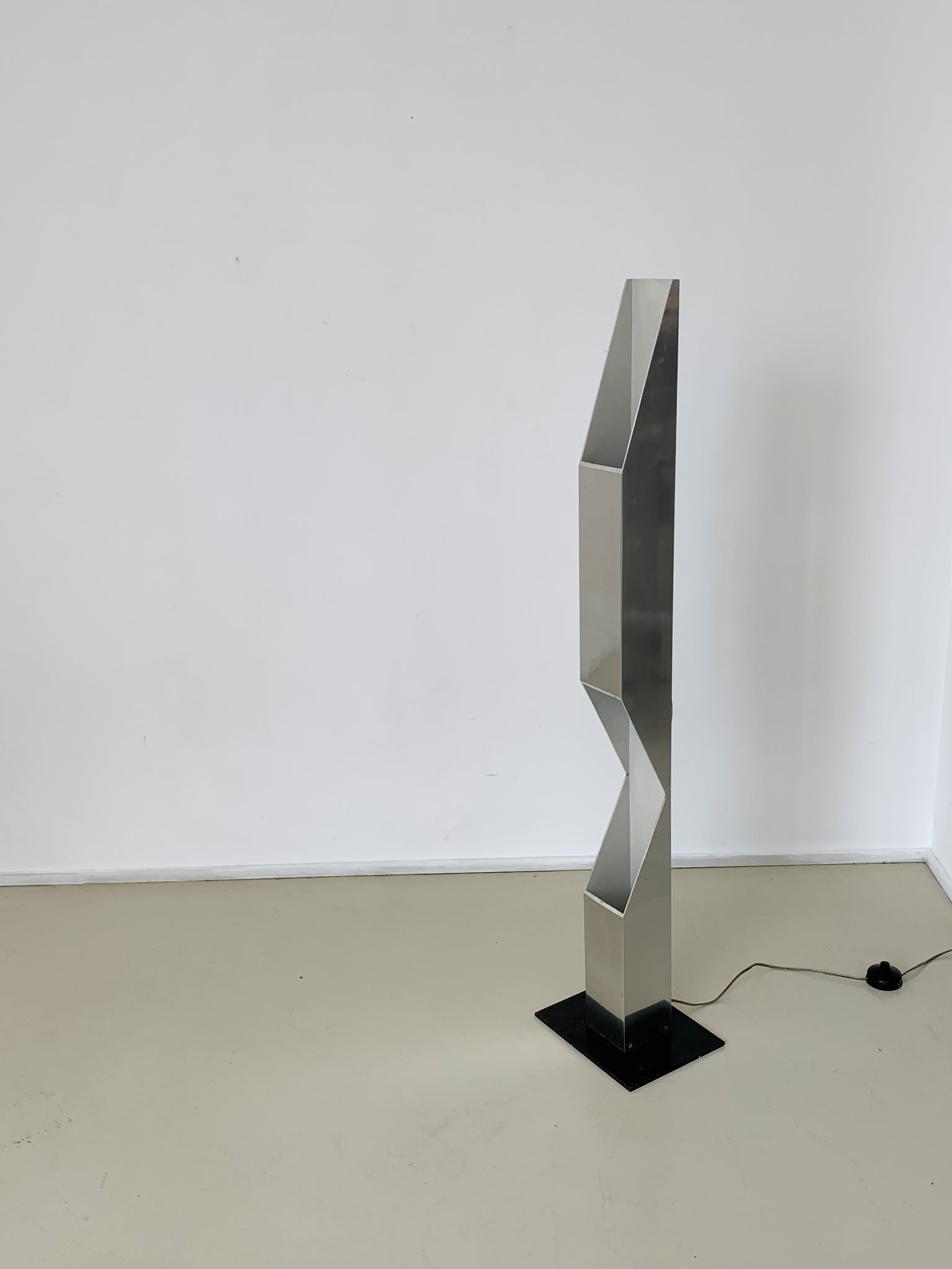 1970s Neal Small Steel Skyscraper Floor Lamp