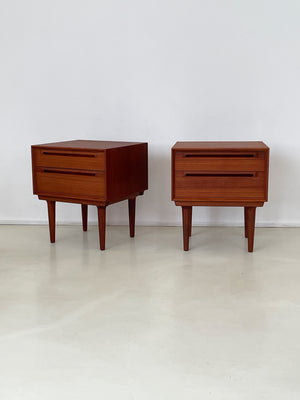 Pair of Teak 1960s Nightstands