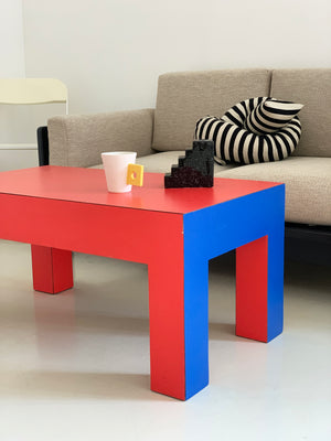 1980s Laminate Color Block Coffee Table