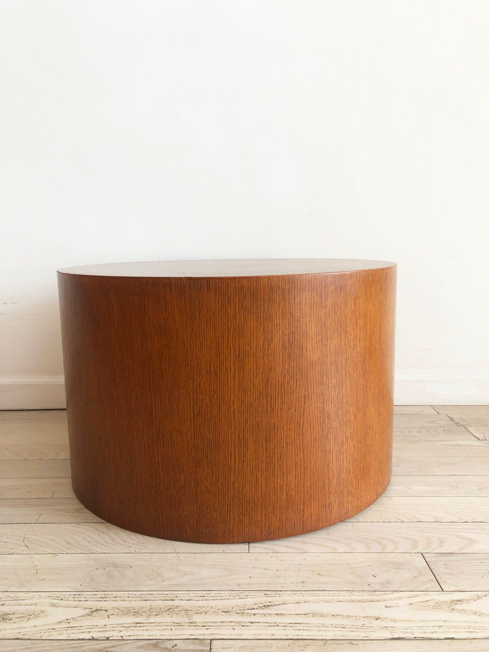 Beautiful 1970s Oak Drum Table by Paul Mayen For Habitat / Intrex