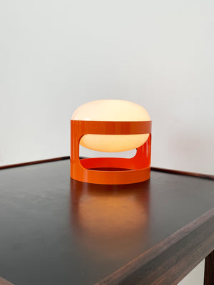 1960s Orange Kartell KD28 Table Lamp by Joe Colombo, Italy