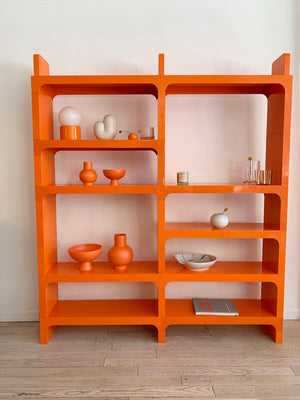 Vintage Modular Olaf Von Bohr for Kartell Orange Bookcase