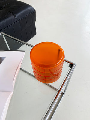 Translucent Orange Swivel Catch-all by REXITE, Italy.