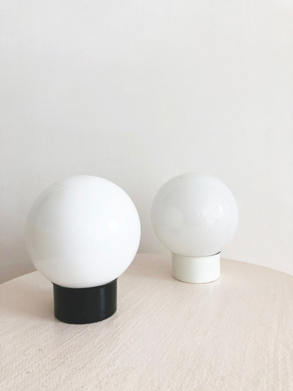 Space Age Vintage Table Orb Lamps