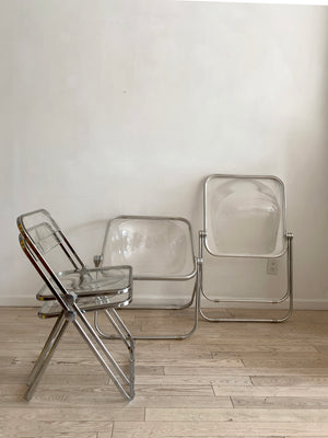"1960s Italian Lucite Folding Chair by Giancarlo Piretti for Anonima Castelli ""Plia"""