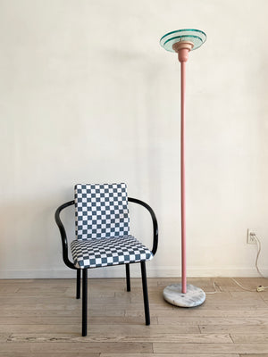 1980s Postmodern Pink Torch Floor Lamp
