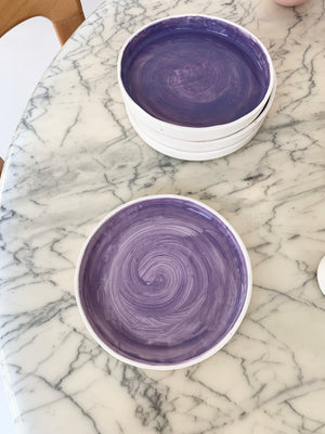 Handmade Glazed ceramic Lavender Dinner Plate