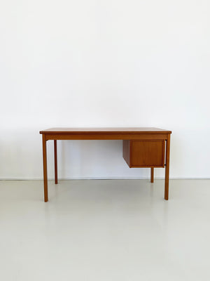 Danish Teak Mid Century Sliding Top Desk by Peter Loving Nielson