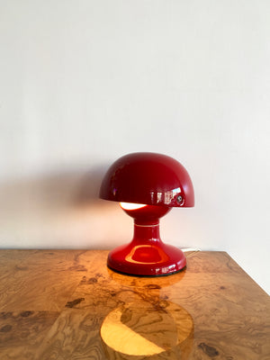 "Rare Cherry Red Flos 1963 ""Jucker"" Lamp by Tobia Scarpa"