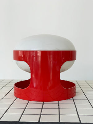 1960s Red Kartell KD28 Table Lamp by Joe Colombo, Italy