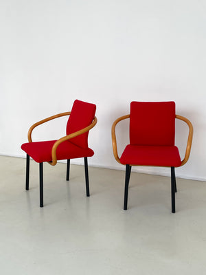 Post Modern Ettore Sottsass for Knoll Red Mandarin Chair