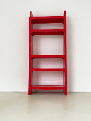 1970s Red Olaf Von Bohr Kartell Shelving Unit