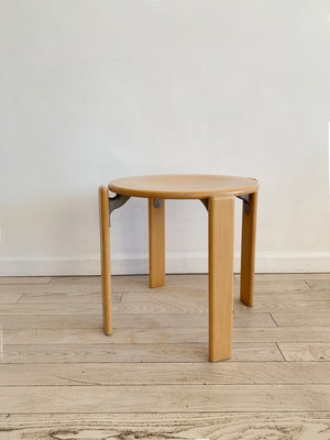 1970s Beech Rey Stool By bruno Rey for Dietiker, Switzerland