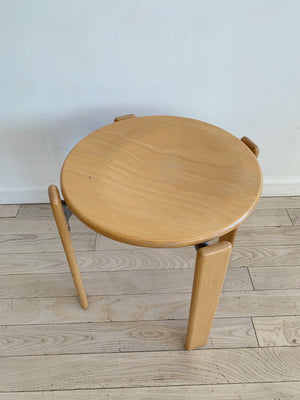 1970s Beech Rey Stool By Bruno Rey, Switzerland