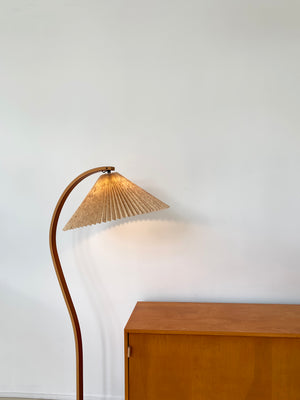 1970s Danish Bent Teak Caprani Floor Lamp