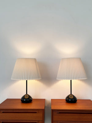 1960s Robert Sonneman Teardrop Table Lamp with Pleated Shade