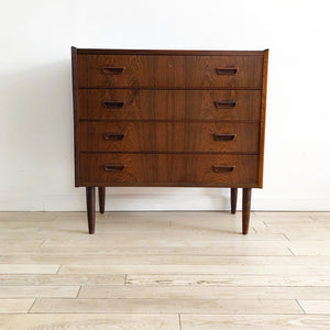 Mid Century Danish Rosewood Four Drawer Chest