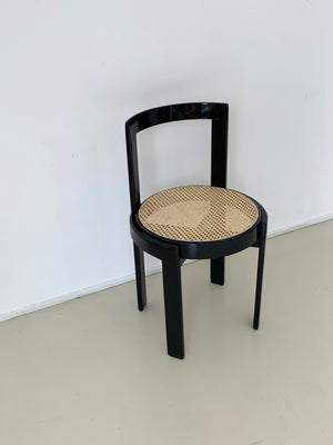1970s Italian Cane Round Chair