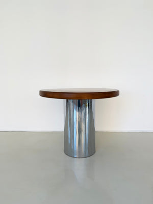 1970s Chrome Drum Round Dining Table
