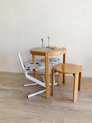 1980s Beech Wood Bistro Table by Johnny Sørensen and Rud Thygesen for Magnus Olesen, Denmark