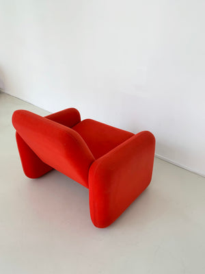 1970s Ray Wilkes Red Chiclet Club Chair for Herman Miller