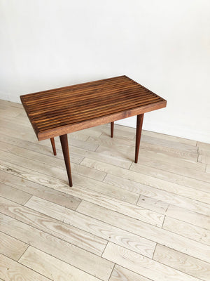 1950s Solid Walnut Mel Smilow Bench/Table, Refinished.