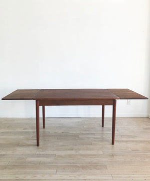 Mid Century Teak Expandable Dining Table From Denmark