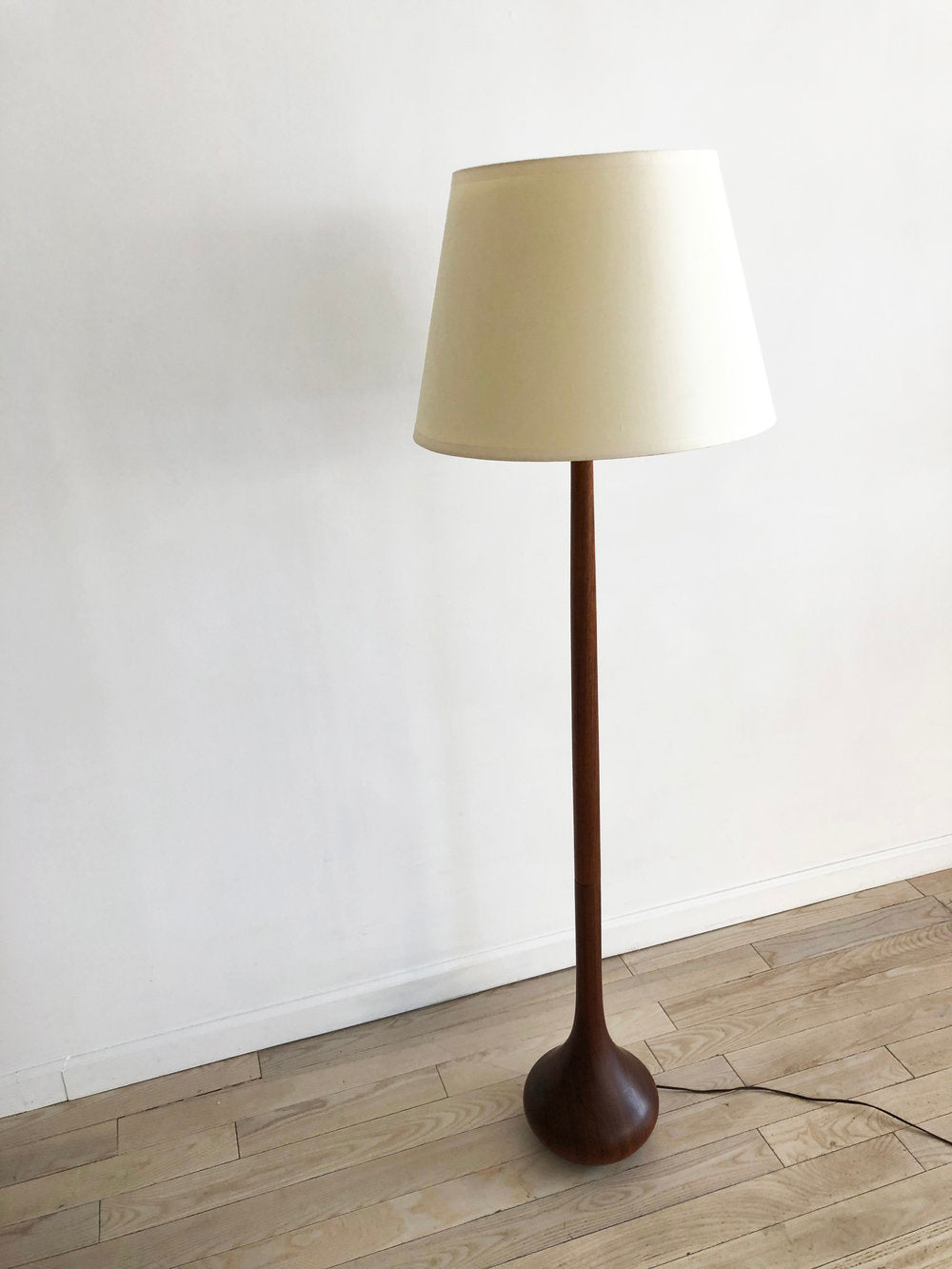 Mid Century Danish Teak Teardrop Floor Lamp