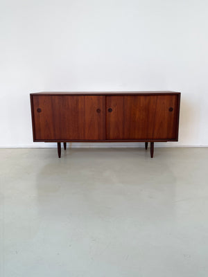 1960s Teak Credenza With Circle Pulls