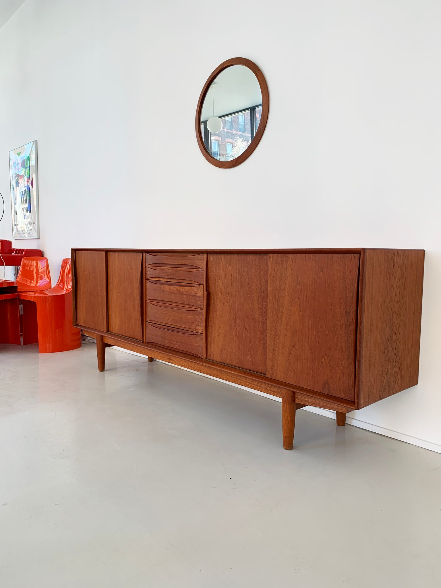 1960s Model 7738 Danish Teak Credenza By Arne Vodder for Skovby