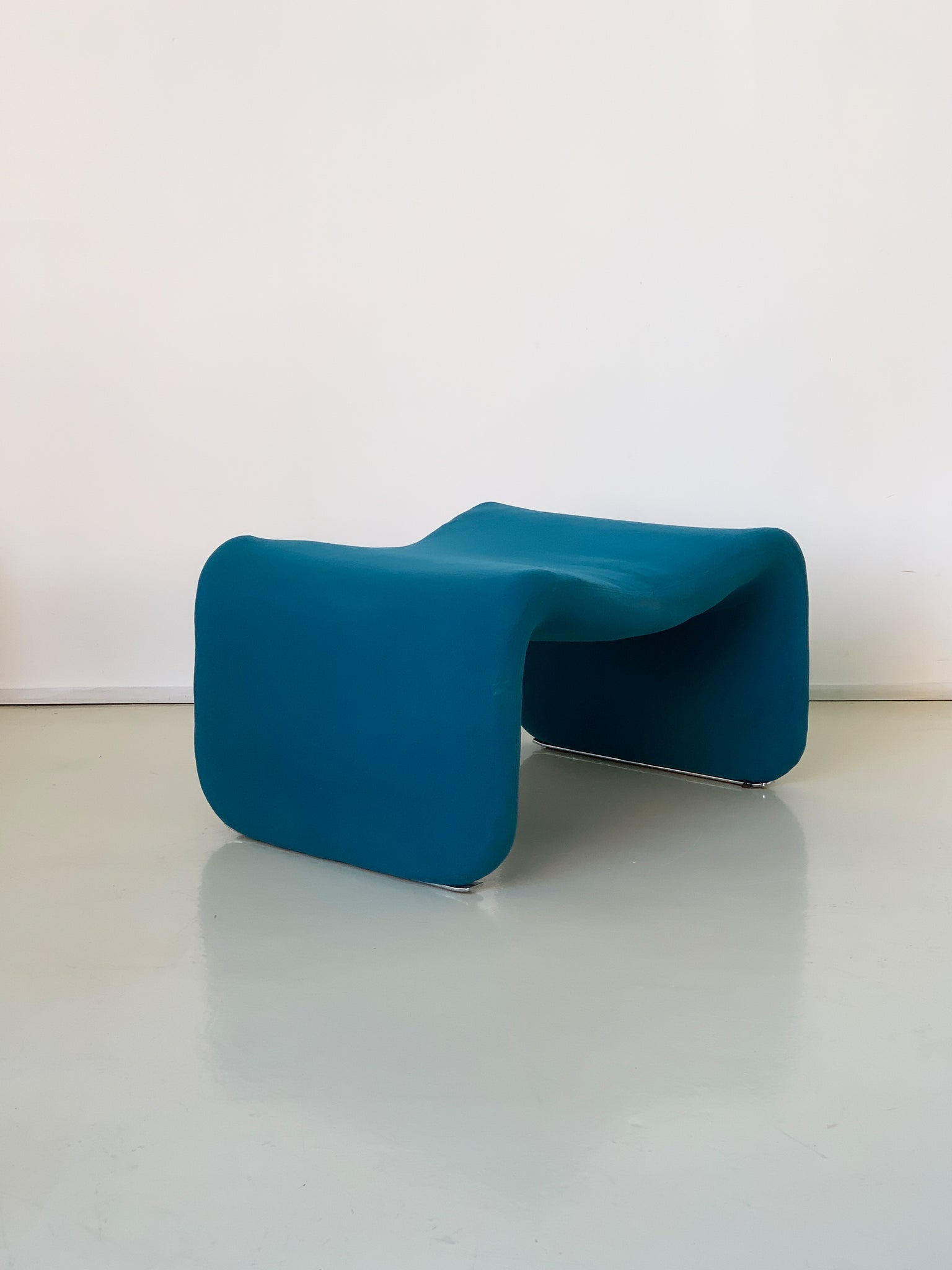 Teal 1960s Djinn Ottoman by Olivier Mourgue for Airborne