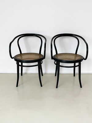 1960s Handcaned Thonet 209 Chairs - Pair of 2