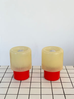 "1970s Space Age Tic Tac ""KD32"" Lamps by Giotto Stoppino For Kartell"