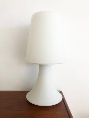 1960s Super Rare Tiered Frosted Glass Laurel Lamp