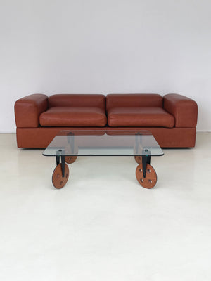 1968 leather Tito Agnoli for Cinova Model 711 Daybed Sofa