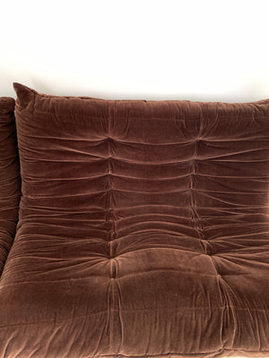 1970s Chocolate Brown Togo Seating