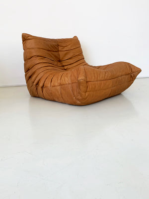 Vintage Leather Togo Chair by Michel Ducaroy for Ligne Roset